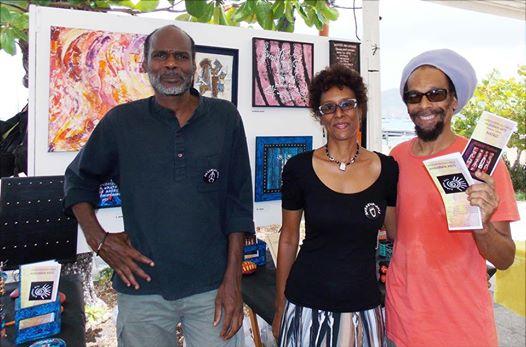 Claude Annick et Poglo devant le stand d'ANBABWA
