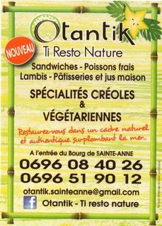 Notre partenaire à Sainte-Anne : OTANTIK