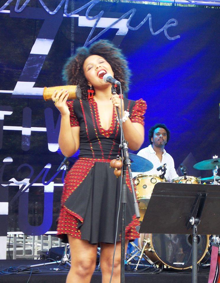 La chanteuse Cynthia Abraham